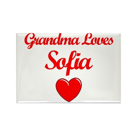Grandma Loves Sofia Rectangle Magnet (10 pack)