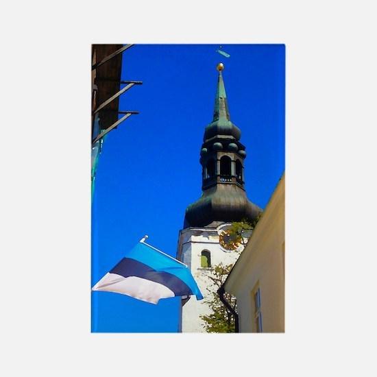 Blue Skies of Estonia Magnets