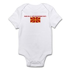 MADE IN US WITH MACEDONIAN PA Onesie
