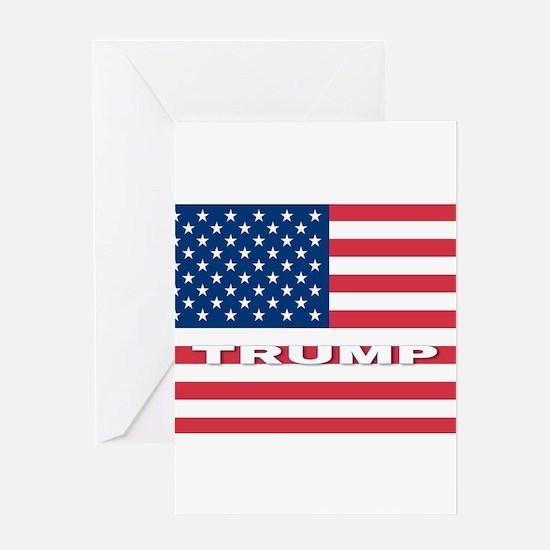 TRUMP American Flag Greeting Cards