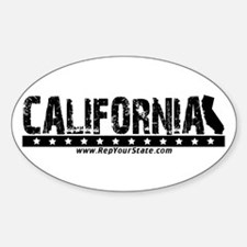 California Oval Decal