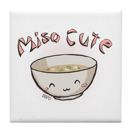 Miso Cute Tile Coaster