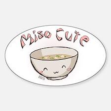 Miso Cute Sticker (Oval)