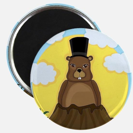 Groundhog day Magnets