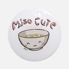 Miso Cute Ornament (Round)