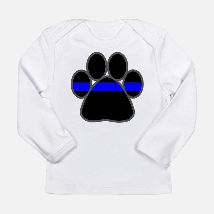 Blue Line K9 Paw Long Sleeve T-Shirt