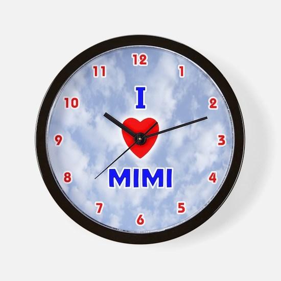 I Love Mimi (Red/Bl) Valentine Wall Clock