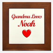 Grandma Loves Noah Framed Tile
