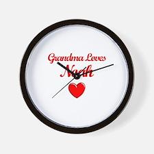 Grandma Loves Noah Wall Clock