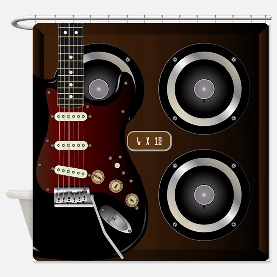 Guitar And Cab Shower Curtain