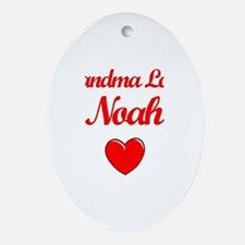 Grandma Loves Noah Oval Ornament