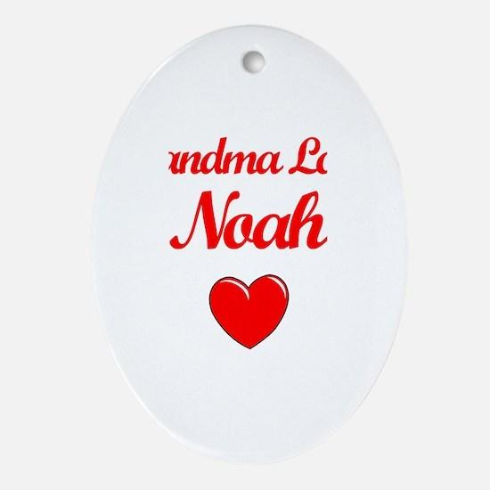 Grandma Loves Noah Oval Ornament