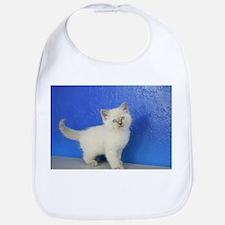 Janie - Ragdoll Kitten Blue Point Baby Bib