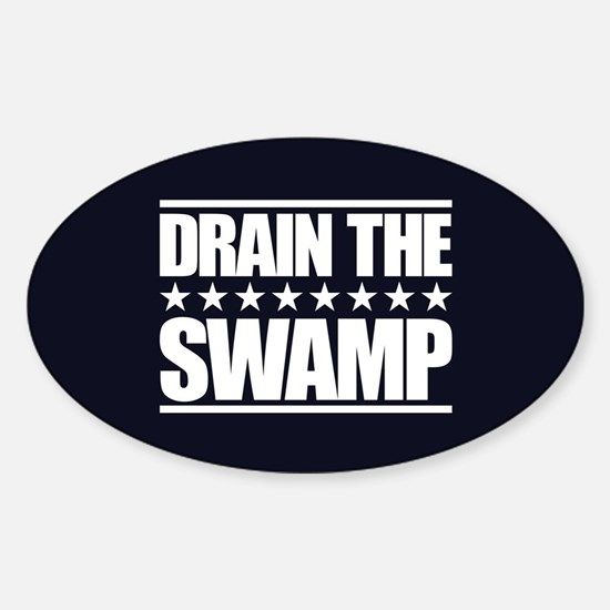 Drain the Swamp Sticker (Oval)