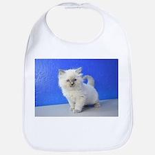 Kissy - Ragdoll Kitten Blue Point Baby Bib