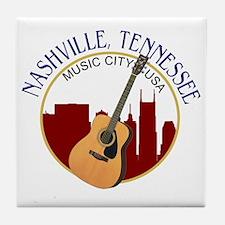 Nashville, TN Music City USA-RD Tile Coaster