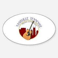 Nashville, TN Music City USA-RD Bumper Stickers