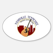 Nashville, TN Music City USA-RD Decal