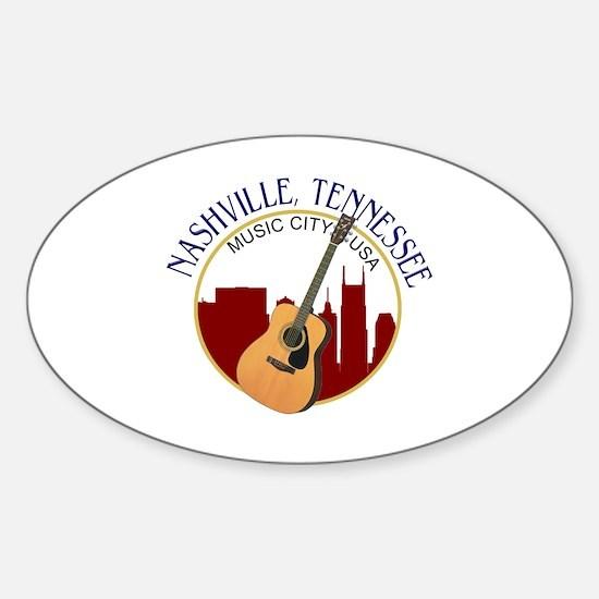 Nashville, TN Music City USA-RD Stickers