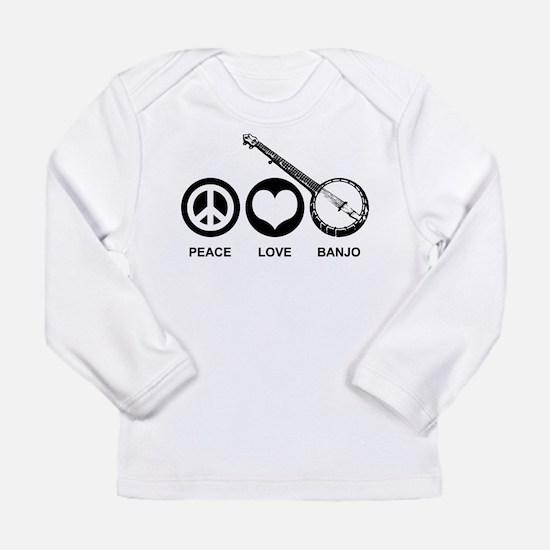 Peace Love Banjo Long Sleeve T-Shirt