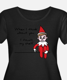 Funny and Cute Christmas Elf on a Shelf Plus Size