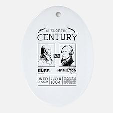 Burr-Hamilton Duel of the Century Oval Ornament