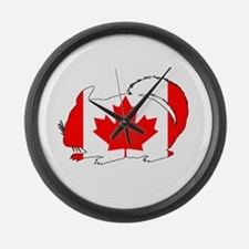 "Chinchilla ""Canada"" Large Wall Clock"