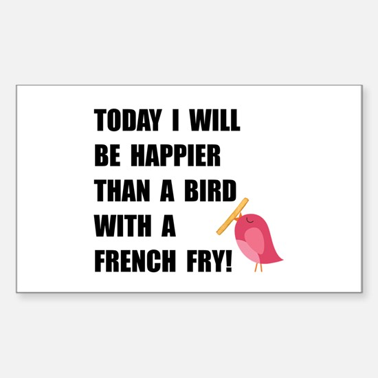 Bird With French Fry Decal