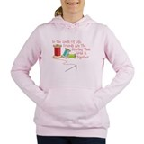 Quilting Hooded Sweatshirt