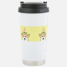 Funny Corgi art Travel Mug