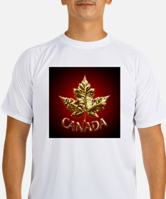 Gold Canada Maple Leaf Performance Dry T-Shirt