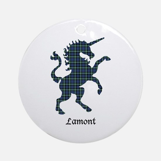 Unicorn - Lamont Round Ornament