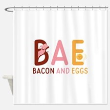 BAE Bacon And Eggs Shower Curtain
