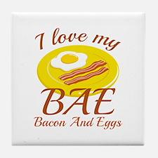 BAE Bacon And Eggs Tile Coaster