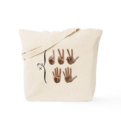 2 hands Tote Bag