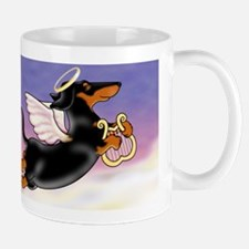 Black and Tab Doxie Angel Mugs