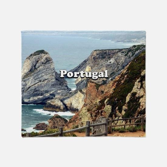 Portugal: Cabo da Roca Throw Blanket