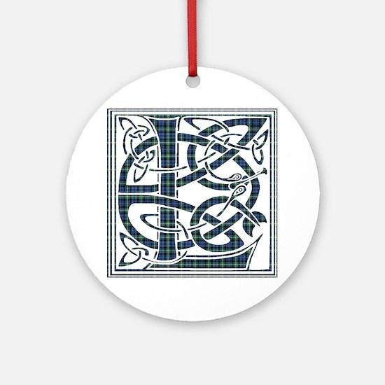 Monogram - Lamont Ornament (Round)
