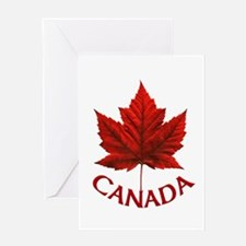 Canada Souvenir Gifts Maple Leaf Ca Greeting Cards
