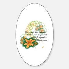 Cute Bible women Sticker (Oval)