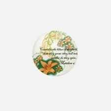 Lilies of the Field Mini Button