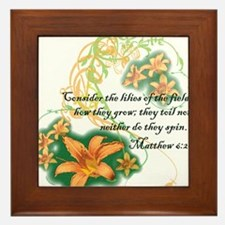 Lilies of the Field Framed Tile