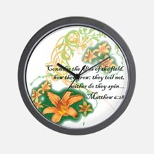 Lilies of the Field Wall Clock