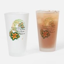 Lilies of the Field Drinking Glass