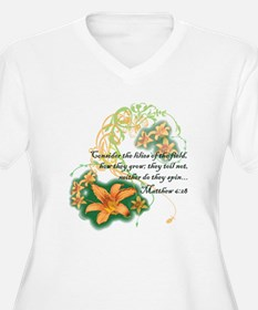 Lilies of the Field Plus Size T-Shirt