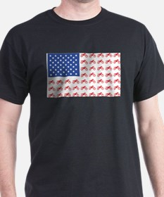 Motocross Bike patriotic Flag T-Shirt