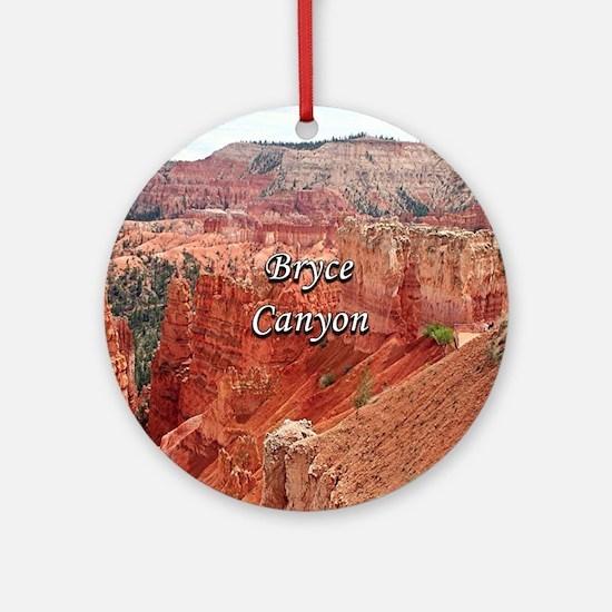 Bryce Canyon, Utah, USA 15 (caption Round Ornament