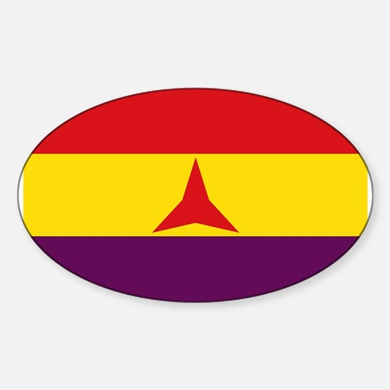 Flag of the International Brigades, Spain Decal