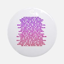 Cute Names of jesus Round Ornament