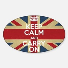 Cute Calm and carry Sticker (Oval)